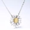 Set argint 925 colier si cercei floarea soarelui colier