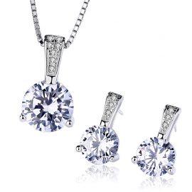 Set argint 925 elegant colier si cercei zirconiu