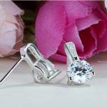 Set argint 925 elegant colier si cercei zirconiu cercei