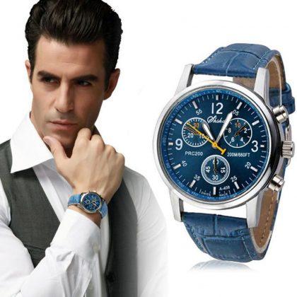 Ceas de mana barbati albastru model