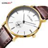 Ceasuri cuplu curea maro Longbo model