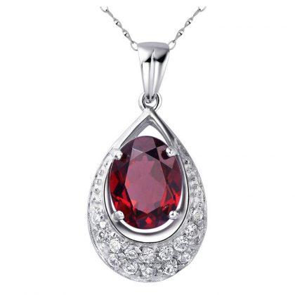 Colier argint 925 elegant rubin