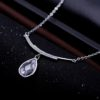 Colier argint 925 elegant zirconiu profil