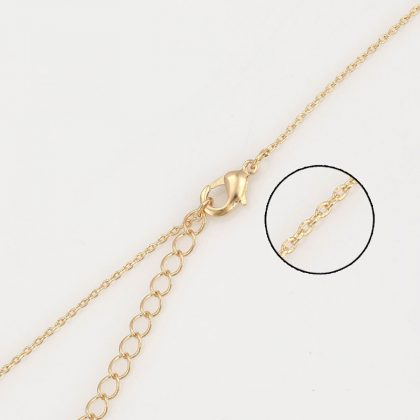 Colier pandantiv triunghi perla placat aur inchizatoare
