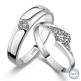 Inele cuplu argint 925 pietre zirconiu
