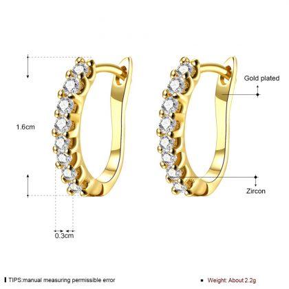 Cercei placati aur cu zirconiu dimensiuni
