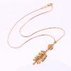 Lantisor pandantiv floricica placat aur sus