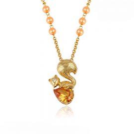 Lantisor pandantiv veverita placat aur