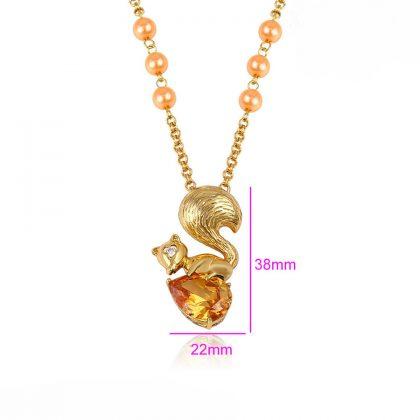 Lantisor pandantiv veverita placat aur dimensiune