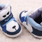 Pantofi baieti catelusi albastrii-albi 6-12 luni profil