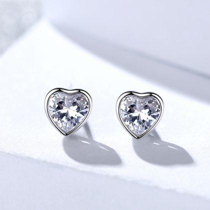 Set argint 925 inimioare colier si cercei zirconiu cercei