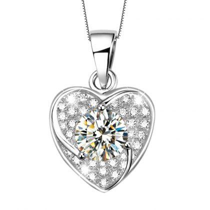 Set deosebit inimioare argint 925 colier si cercei pandantiv