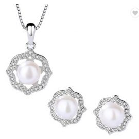 Set elegant argint 925 perle