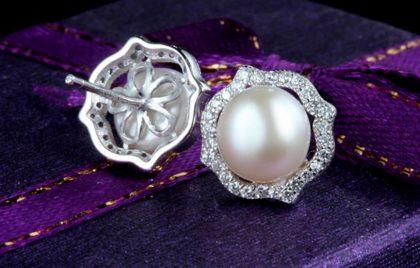 Set elegant argint 925 perle cercei