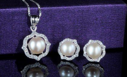 Set elegant argint 925 perle fata