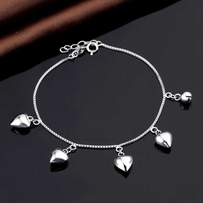 Bratara argint 925 amuleta inimioare