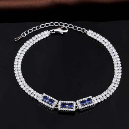 Bratara argint 925 eleganta cristale zirconiu