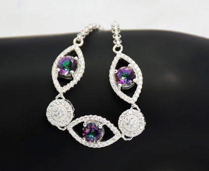 Bratara dama eleganta argint 925 zirconiu model
