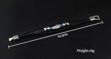 Bratara unisex amuleta aripa de inger dimensiuni