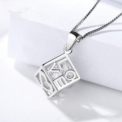 Colier argint 925 cub Love sus