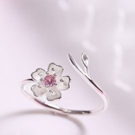 Inel argint 925 floricica Sakura