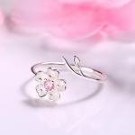 Inel argint 925 floricica Sakura sus