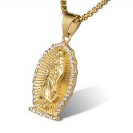 Lant placat aur pandantiv religios Maria
