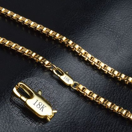 Lant unisex deosebit placat aur 18K