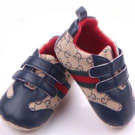 Pantofi baietei albastrii-bej 0-6 luni