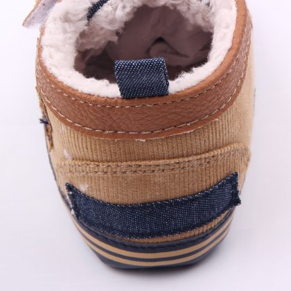 Pantofi baieteti maro 0-6 luni spate