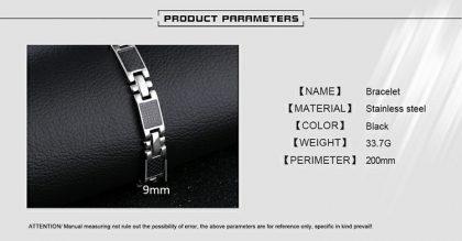 Bratara eleganta magnetica stainless steel detalii