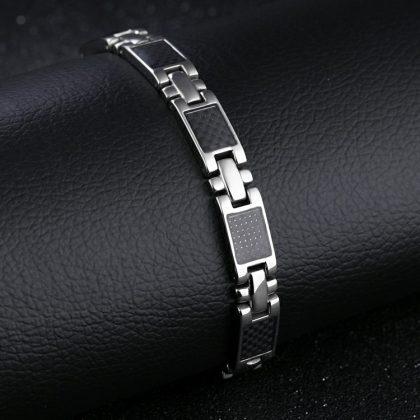 Bratara eleganta magnetica stainless steel mana