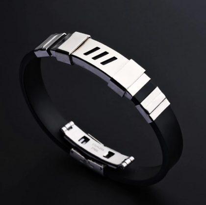 Bratara silicon unisex stainless steel profil