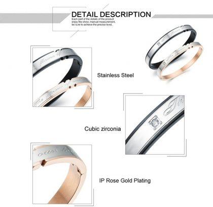 Bratari cuplu stainless steel detalii