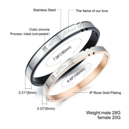 Bratari cuplu stainless steel dimensiuni