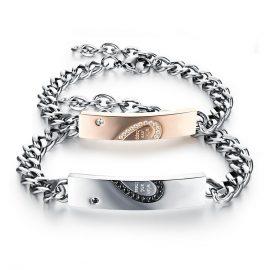 Bratari indragostiti stainless steel inimioare