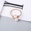 Inel ajustabil argint 925 placat aur perle fata