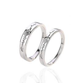 Inele de logodna ajustabile argint 925 inimioare