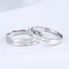 Inele de logodna ajustabile argint 925 inimioare sus