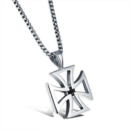 Lant pandantiv cruce stainless steel