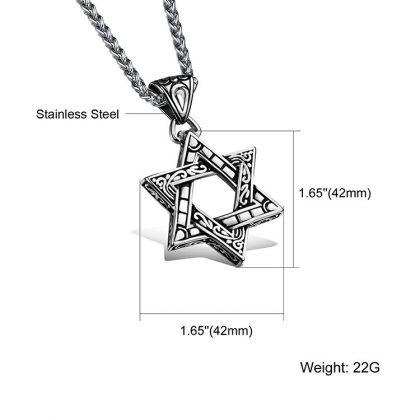 Lant pandantiv stea stainless steel detalii