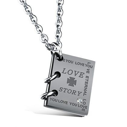 Lantisoare cuplu stainless steel pandantiv Love Story el