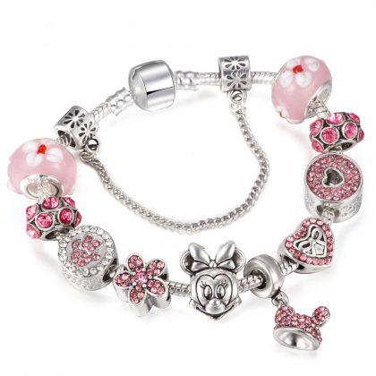 Bratara charm amuleta Minnie