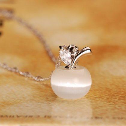 Colier argint 925 pandantiv din opal alb