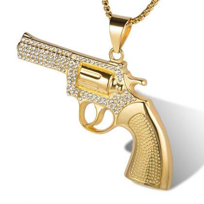 Lant placat aur pandantiv pistol