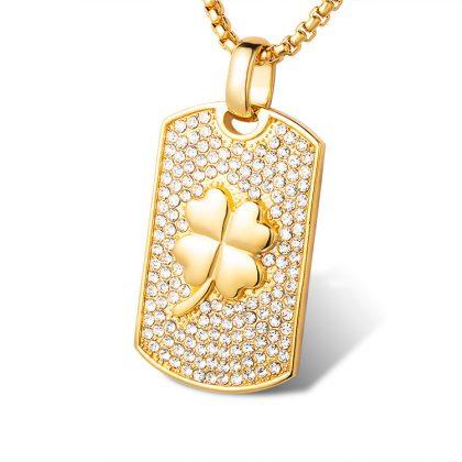 Lant placat aur pandantiv trifoi