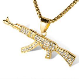 Lant placat aur pandantiv AK47