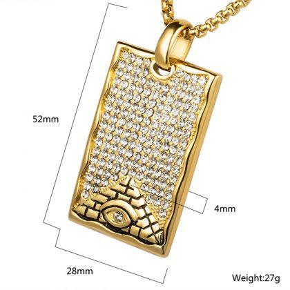 Lant placat aur pandantiv piramida fata
