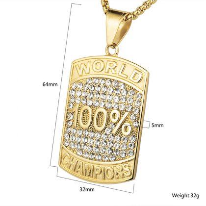 Lant placat aur 100% campion detalii