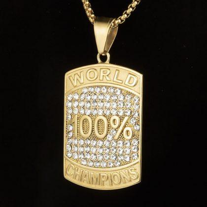 Lant placat aur 100% campion fata